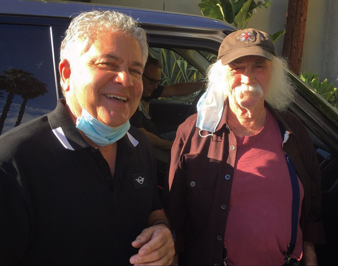 David Crosby and Paul Camarata at Sunset Sound Studios